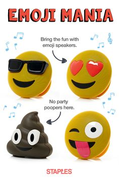 Pick up your favorite emoji speaker at Staples. We're all heart-eyes for these fun Jamoji Bluetooth speakers. They're pocket-sized and party-ready, so you can bring the good vibes wherever you go. Just connect it to your device and blast your end-of-summer soundtrack.