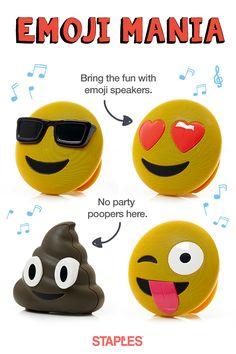 Shop jamoji by Options, Prices & Ratings at Staples Smiley Emoji, School Tool, Cute School Supplies, Cringe, Dankest Memes, Inventions, Cool Things To Buy, Bluetooth Speakers, Heart Eyes
