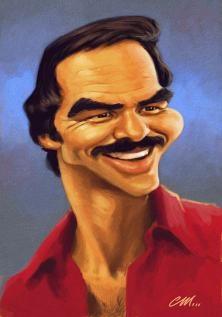 Burt Reynolds - CARICATURE: http://dunway.com/