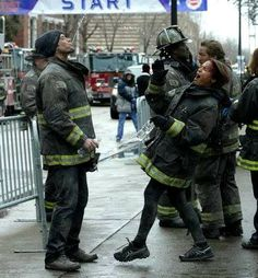 Monica Raymund Chicago Fire...this is actually pretty gross #js
