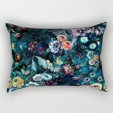 Night Garden Rectangular Pillow by rizapeker Oversized Throw Pillows, Throw Pillows Bed, Decorative Throw Pillows, Small House Decorating, Night Garden, Shades Of Red, Pillow Inserts, Decor Styles, Bedroom Decor