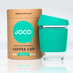 Want Mint JOCO Coffee Cup – Reusable Glass Cup