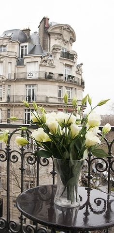 Fresh flowers and a view of Paris!                                                                                                                                                      More