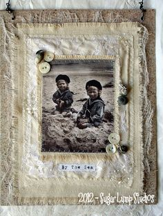 BY THE SEA Altered Collage Canvas 8 x 10 by sugarlumpstudios, $19.95