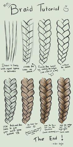 Mini Braid Tutorial drawing