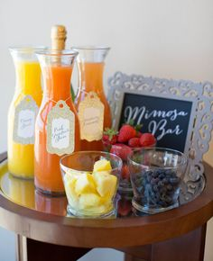 DIY Mimosa Bar | J. Anne Photography | blog.TheKnot.com