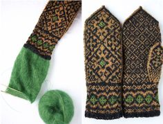 Andalus Mittens. This pattern by Heather Desserud ('heddaknits') is available on Ravelry.
