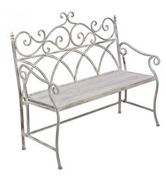 METAL BENCH IN WASHED GREY COLOR 115Χ53Χ105