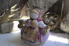 "Купить кукла-оберег Кубышка-травница""Счастье весной"". - народная кукла, кукла-оберег, кукла текстильная"