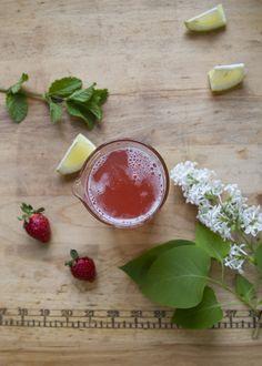 rhubarb syrup + rhubarb strawberry smash   reading my tea leaves