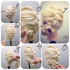 三つ編みの編み込みだけです!! 1 左センターから右に向かって編み込んでいきます!三つ編みの編み込みです! 2 下までいくと左に向かって編み込んでいきます! 3 左のネープまで編み込んだら右に返していきます 4 編み込んだ毛先をクルクルまとめていきます 5 このようになります 6 ピンの入れ方です三つ編みの毛と根元の毛を一緒にら挟んで留めればしっかり固定されます 7 あとはお花つけて完成です^ ^ 高田馬場 nico...山本大介 ヘアアレンジ¥3500 スタイリスト募集中 ご予約お待ちしてます!(=ω)ノ #nico#hairarrange#撮影#ヘアスタイル#スタイル#美容室 #ヘアアレンジ#アップスタイル #アレンジ#アップスタイル #ニコ#結婚式#結婚式アップ#オシャレ#ヘアセット#くるりんぱ#アレンジ解説#ヘアアレンジ解説#ヘアアレンジnico