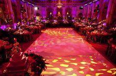 Gorgeous wedding lighting