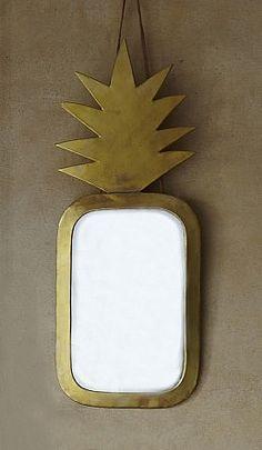 I wanta pineapple - Pineapple Mirror - Brass - Plumo Wabi Sabi, Decorative Accessories, Home Accessories, Brass Mirror, Mirror Mirror, Mirror House, Mad About The House, Home And Deco, Home Decor Furniture