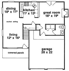 First Floor Plan of House Plan 53190