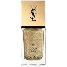 Yves Saint Laurent Dazzling Lights La Laque Couture Nail Polish (92 BRL) ❤ liked on Polyvore featuring beauty products, nail care, nail polish, makeup, nails, beauty, yves saint-laurent nail polish and yves saint laurent