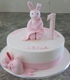 fe06419ad94ccc0fc42bc9298cdb23cb Pretty Birthday Cakes For A Girl Pink Cake With Flowers For A Baby Girl Cakecentral Com