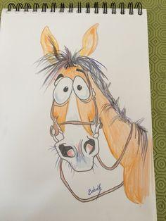 Ideas for illustration art cartoon inspiration Horse Drawings, Cartoon Drawings, Animal Drawings, Cartoon Art, Cute Drawings, Horse Cartoon Drawing, Illustration Art, Illustrations, What Do You Mean