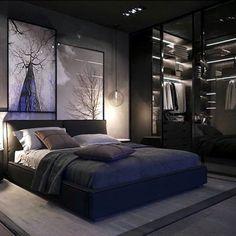 Inspirations Mens Bedroom Ideas - All Bedroom Design Modern Luxury Bedroom, Luxury Bedroom Design, Modern Master Bedroom, Stylish Bedroom, Home Room Design, Small Room Bedroom, Master Bedroom Design, Luxurious Bedrooms, Home Decor Bedroom