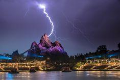 Lightning storm over Animal Kingdom.  #Disney #AnimalKingdom #disneyworld #disneystyle #disneyside
