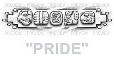 PRIDE Mayan Glyphs Tattoo Design C » ₪ AZTEC TATTOOS ₪ Aztec Mayan Inca Tattoo Designs Instant Download