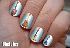 i love these guitar nail paintings even though they were a joke on etsy
