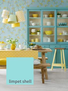 Can you believe this colour occurs naturally? Taking inspiration from the beautiful interior of limpet shells, this fab new shade is gentle and pacifying, and pops perfectly when contrasted with Pantone's 'Buttercup'. This pretty colour combination brings funky retro into the 21st century. This colour is most comparable to 'Blue Ground', F&B's upbeat shade that's blue in tone but not in spirit. http://www.deterra-kitchens.co.uk/blog/page/2/