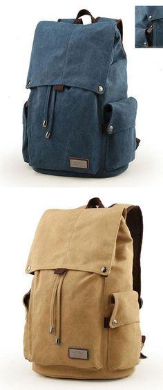 4ec147cd52 Retro Large Men s Canvas Drawstring Travel Laptop School Bag Hiking  Backpack  backpack  bag