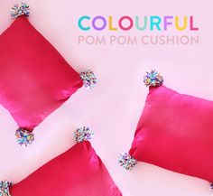 Colourful Pom Pom Cu
