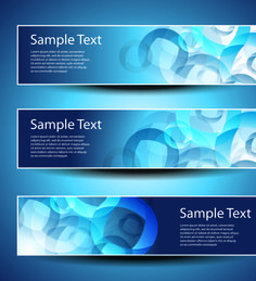 banner design elements abstract vector 03