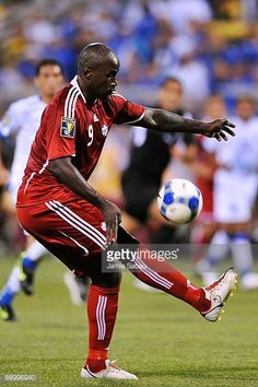 Ali Gerba of Canada controls the ball against El Salvador during a CONCACAF Gold Cup match at Crew Stadium on July 7 2009 in Columbus Ohio