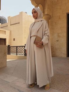 Beige Co-Ord *Made on Order* - hijab outfit Modest Fashion Hijab, Modern Hijab Fashion, Islamic Fashion, Abaya Fashion, Muslim Fashion, Look Fashion, Modest Outfits Muslim, Hijab Chic, Hijab Style Dress