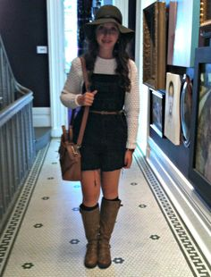 90's Flashback with some cut off overalls today! :: http://styleandspices.wordpress.com/2013/10/23/bringing-overalls-back/