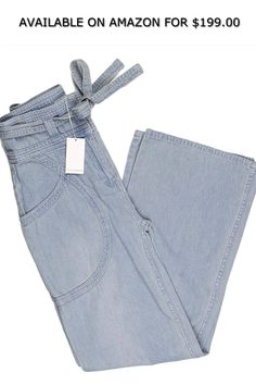 £35 New BHS Ladies Light Blue Denim Tencel Stretch Slimleg Trouser Size 14