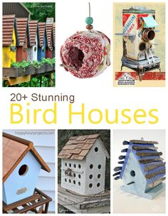 20+ Stunning Bird Houses - A beautiful collection of fabulous birdhouses!