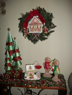 Valerie Parr Hill: gingerbread wreath, gingerbread boy and girl. and glitter tress set of tree. Also the garland with timer. Love, love, love....