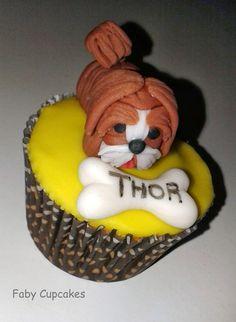 Cupcake Cachorro Lhasa apso