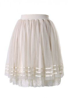#Chic wish                #Skirt                    #Triple #Layers #Tulle #Skirt #with #Lace #Tirm     Triple Layers Tulle Skirt with Lace Tirm                                      http://www.seapai.com/product.aspx?PID=1250823