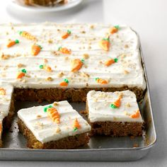 We sold pieces of this to-die-for carrot cake at an art show and before long sold out of the 10 cakes we had made! Dottie Cosgrove South El Monte California The post Carrot Sheet Cake appeared first on Orchid Dessert. Food Cakes, Cupcake Cakes, Cupcakes, Carrot Sheet Cake Recipe, Sheet Cake Recipes, Recipe Sheet, Taste Of Home Carrot Cake Recipe, Recipe Recipe, Sheet Cakes