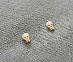 Tiny Skull Earrings