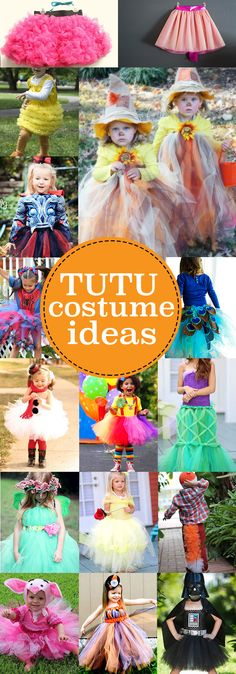Have girls that love their tutus? Check out these costume ideas that allow her to still wear her beloved tutu! Halloween Tutu Costumes, Dress Up Costumes, Cute Costumes, Halloween Kostüm, Costume Ideas, Diy Kids Costumes, Scarecrow Costume, Costume Original, Halloween Karneval
