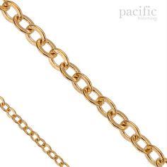 3mm x 2.5mm Gold Jewelry Chain