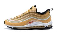online store e3fed b4889 Mens Womens Sneakers Nike Air Max 97 Ultra  17 Metallic Gold University Red-