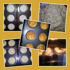 Muffins de queso y jamón serrano