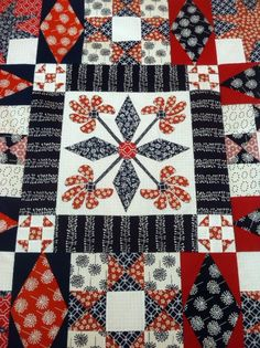 Quilt Top Close up by mtclifford2012, via Flickr