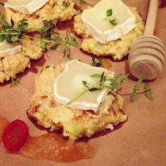 Mine matskriblerier: Eplepannekaker med chevre og timian