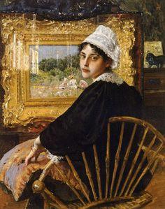 "spoutziki-art: ""William Merritt Chase, A Study (The Artist's Wife), 1892 """