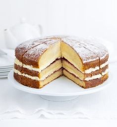Buy the Triple-Layer Victoria Sandwich (Serves from Marks and Spencer's range. Victoria Cakes, Victoria Sponge Cake, Easy Sandwich Recipes, Decoration Inspiration, Strawberry Jam, Let Them Eat Cake, Nom Nom, Sandwiches, Layers