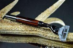 Cocobolo Wood  Men's Shaving Razor  Mach 3 by HillCountryArtistry, $44.99