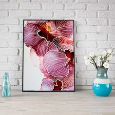This one of a kind original piece is a part of my flora collection and has been created through intuition and colour play. SIZE: Please be aware that the framed picture shown in the gallery is not true to size and is only meant to show how the picture could be displayed. This