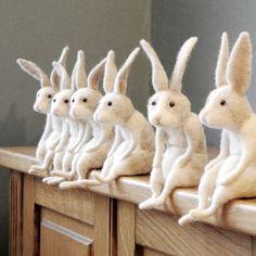 Waiting for Easter! #needlefeltedrabbit #willane #easterbunny #rabbitsofinstagram #bunnylove #rabbitstagram #handmade #feltcraft…  #handmade #crochet #knitting